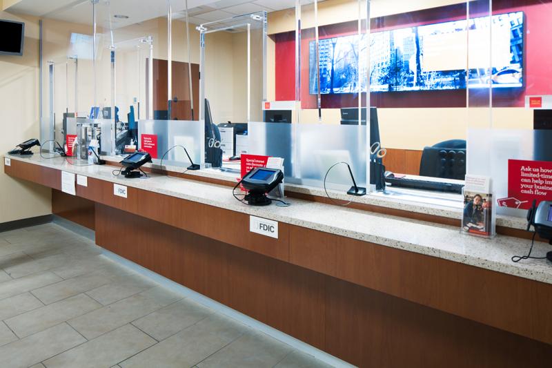 Wells Fargo Branch Build Out Teller Counter Verus Construction